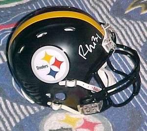 RASHARD MENDENHALL SIGNED PITTSBURGH STEELERS REVOLUTION MINI HELMET
