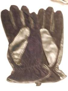 Mens Calvin Klein Black Leather Driving Gloves,Large