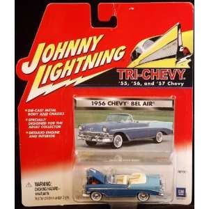 Johnny Lightning Tri Chevy 1956 Chevy Bel Air Conveertable