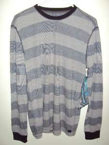 QUIKSILVER MENS SNIT STRIPE SWEATER JACKET SNOW GREY M