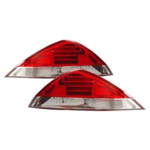 03 05 Honda Accord Coupe Red/Clear LED Tail Lights Automotive