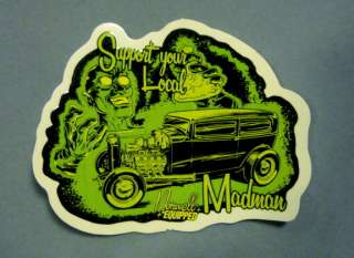 RARE NORWELL HOT ROD DECAL STICKER KUSTOM MAD SCIENTIST