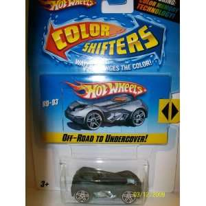 Hot Wheels Color Shifters RD 03 Green   Dark Gray Toys
