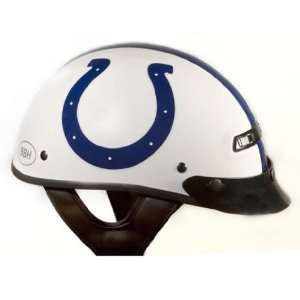 White Medium NFL Indianapolis Colts Motorcycle Half Helmet Automotive
