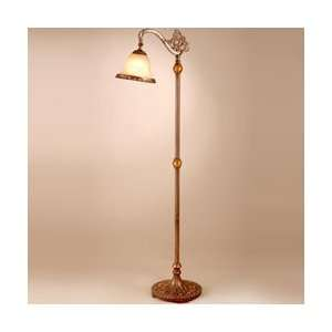 Tiffany TF101088 Lowther 1 Light Reading Lamp in Antique Gold Amber
