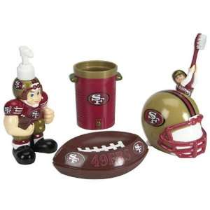 NFL San Francisco 49ers Football 5 Piece Bathroom Set
