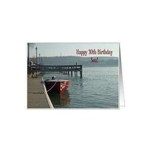 Fishing Boat 30th Son Birthday Card Card Toys & Games