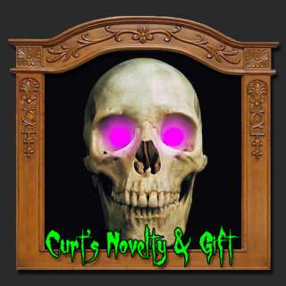 LED UV PURPLE EYES HALLOWEEN PROP Crank Ghost Mask