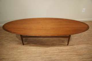 Danish Modern Teak Oval Coffee Table