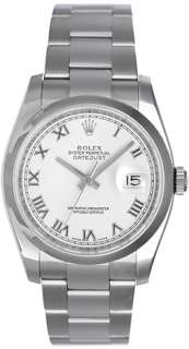 Rolex Datejust Mens Steel Watch with Smooth Bezel 116200