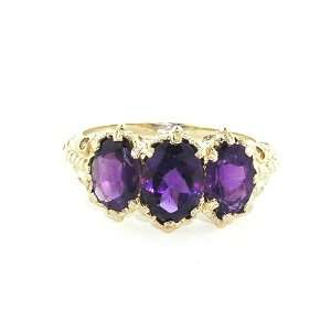 Gold Ladies Amethyst Ring   Finger Sizes 5 to 12 Available Jewelry