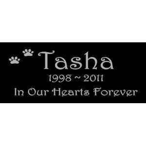 Gifts Personalized Black Granite Pet Memorial Marker Style Tasha Pet
