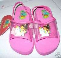 DORA EXPLORER BEACH WALK SANDALS GIRLS~NEW~1 2