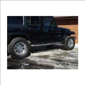 07 11 Jeep Wrangler Black Horse Stainless Steel Nerf Bars