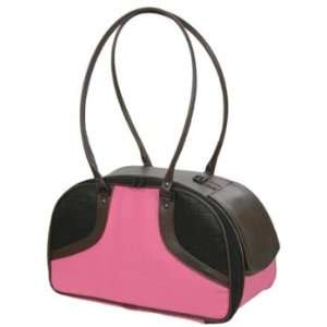 PeTOTe Bali2 Hot Pink with Brown Trim Pet Carrier  Size
