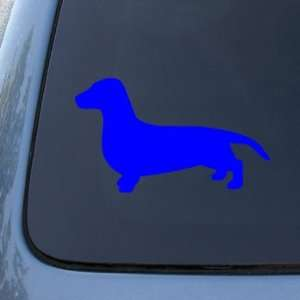 SILHOUETTE   Dog   Decal Sticker #1504  Vinyl Color Blue Automotive