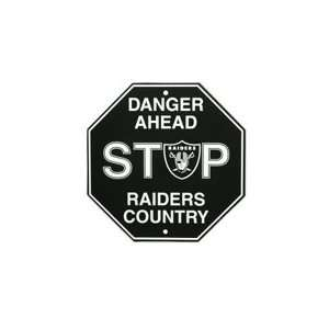 Oakland Raiders NFL Stop Sign