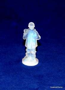 Danielo French Opalescent Art Glass Pierrot Clown Figural Paperweight