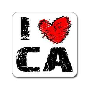 I Love Heart CA   CALIFORNIA   Window Bumper Laptop