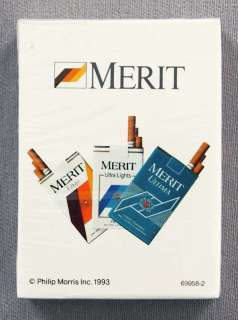 1993 Philip Morris Inc. Merit Cigarettes Poker Size Playing Cards