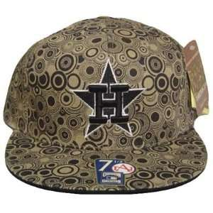 MLB HOUSTON ASTROS FLAT BILL HAT CAP BLACK 7 1/4 FITTED