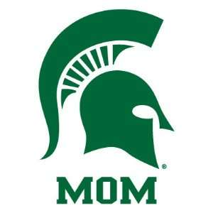 MICHIGAN STATE UNIVERSITY SPARTAN MOM clear vinyl decal