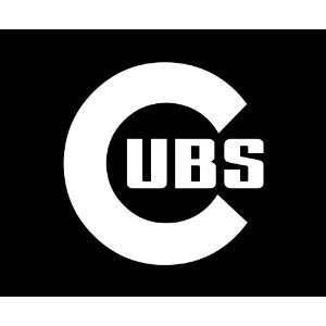 Chicago Cubs LARGE 10 WHITE vinyl decal sticker