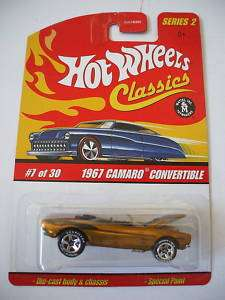 Hot Wheels Classics Series 2   7/30 1967 Camaro Convert
