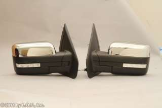 Ford F150 Driver & Passenger Set Pair Heat Turn Signal Power Side View
