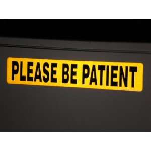 Please Be Patient Reflective Magnet for the Student Driver