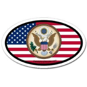 United States of America USA Flag Car Bumper Sticker Decal