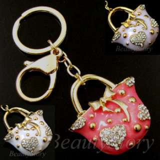 ADDL Item  Rhinestone Crystal Handbag Key Chain