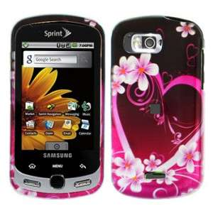Purple Love Hard Case Snap on Cover Samsung Moment M900