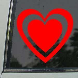 Outlined Heart Red Decal Car Truck Bumper Window Red