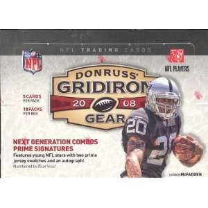 2008 Donruss Gridiron Gear Football Hobby Box Sports