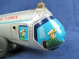 Vintage Nomura US Air Force Tin Litho Helicopter Toy