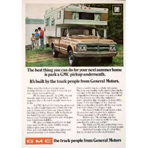 GMC General Motors Truck Pickup Automobile Vehicle Fishing Family Car