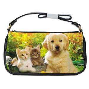 Golden Retriever Dog Puppy Puppies #20 Shoulder Clutch Bag