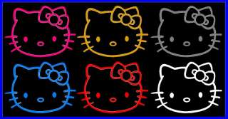 HELLO KITTY CAR DECAL Hello kitty decal sizes / colors