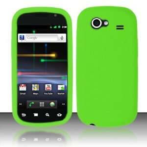 Neon Green Soft Silicone Skin Gel Cover Case for Samsung