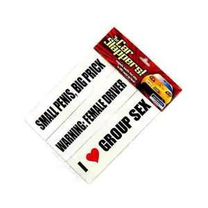 CAR SLAPPERS Magnetic Bumper Stickers