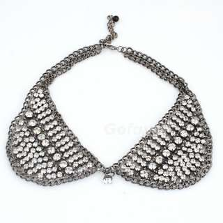 Gorgeous Fashion Luxury Full Crystals Collar Choker Bib Necklace 3