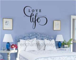 Love Life Vinyl Decal Words Stickers Letters Quote Valentines Wall