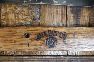 RARE VINTAGE NR JACK DANIELS OLD NO 7 OAK BARREL CUSTOM TABLE