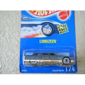 Hot Wheels Limozeen All Blue Card #174 Light Blue Metalflake with