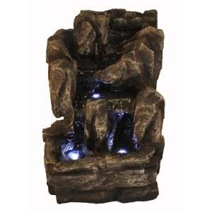 Rock Stone Small LED Indoor Table Top Water Fountain