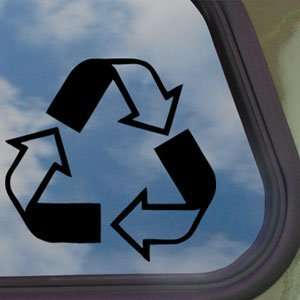 Recycle Environment Logo Black Decal Truck Window Sticker