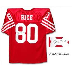 Rice San Francisco 49ers Autographed Custom Jersey
