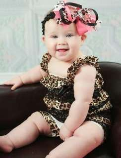Baby Girl Ruffle Tutu Dress Outfit Romper Leopard Photo Prop Playsuit