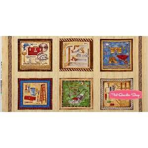 Mr. Fix It Pine Tool Time Quilt Panel   SKU# 0530 1